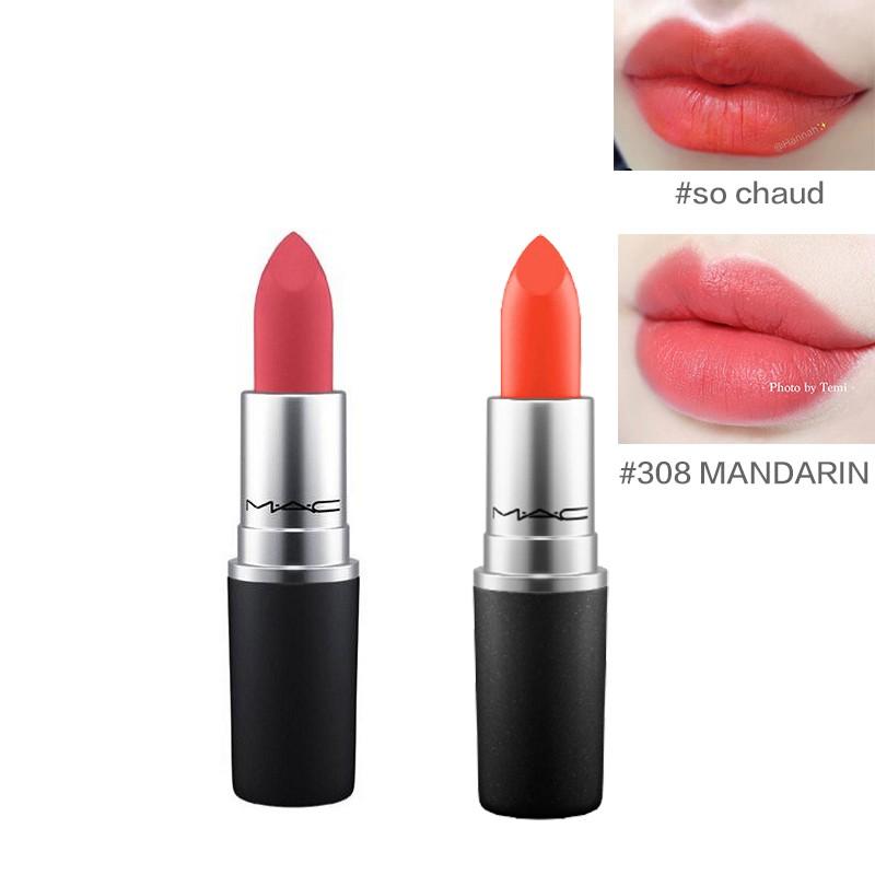 MAC 魅可 柔感哑光唇膏两件套 (#so chaud +#308 MANDARIN)