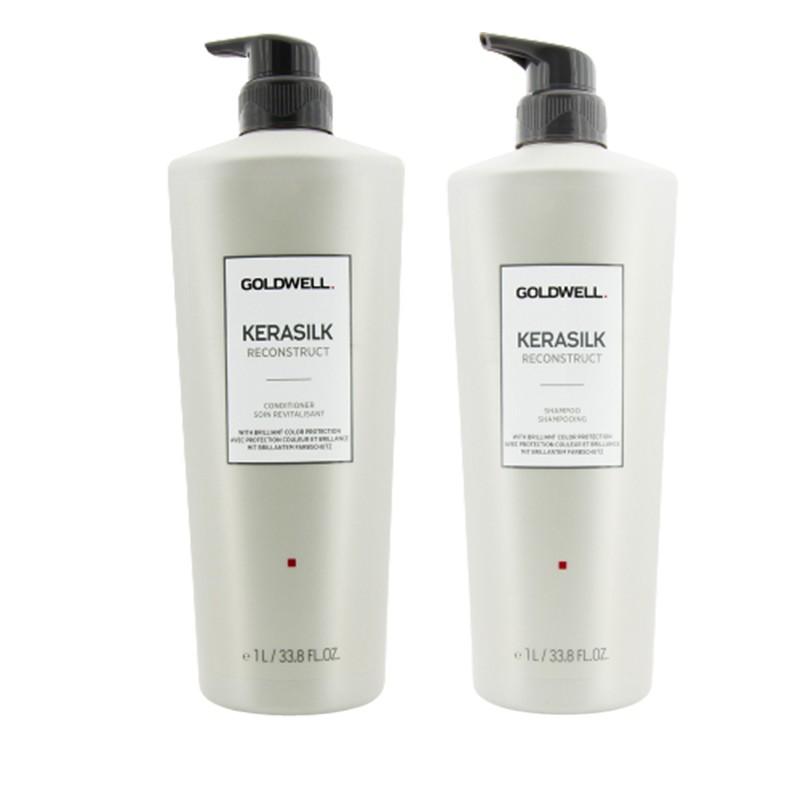 Goldwell 歌薇 蛋白重塑洗护套装(受损发质)(洗发露 1000ml+护发素 1000ml)