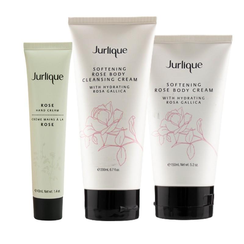Jurlique 茱莉蔻 玫瑰柔肤沐浴套装(滋养型)(身体霜 150ml+沐浴乳 200ml+护手霜 40ml)