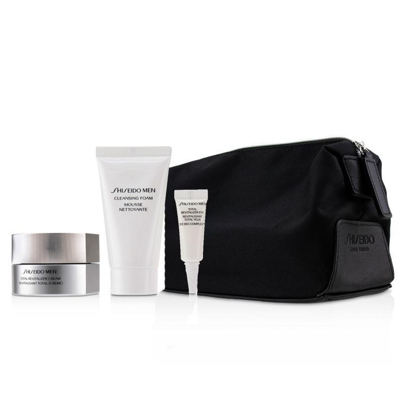 Shiseido 资生堂 男士全效活肤套装(全效活肤霜 50ml+洗面膏 30ml+全效活肤眼霜 3ml+收纳袋)