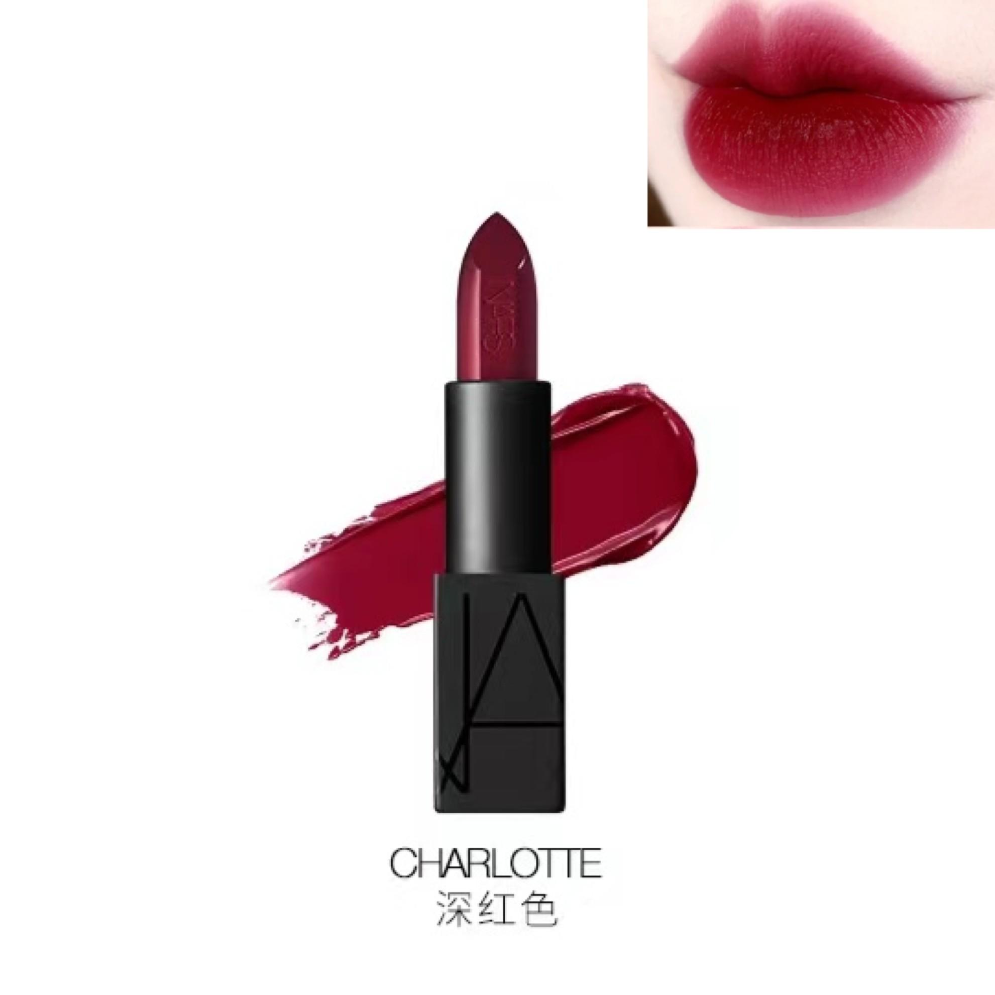 NARS 纳斯 黑管唇膏 #CHARLOTTE 深红色 4.2g