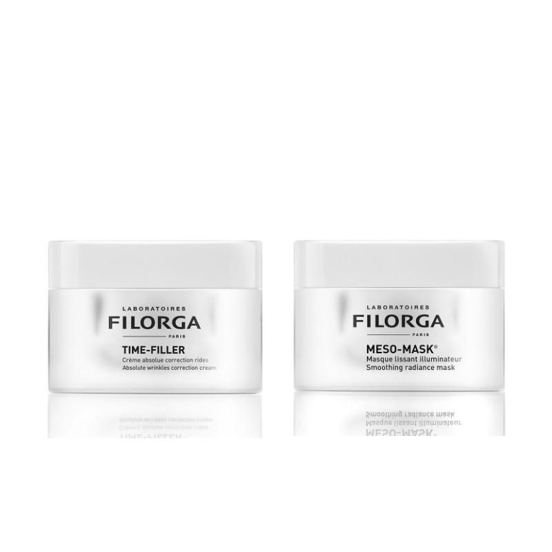Filorga 菲洛嘉 护肤套装(焕龄时光抗皱面霜 50ml+柔润亮泽十全大补面膜 50ml)