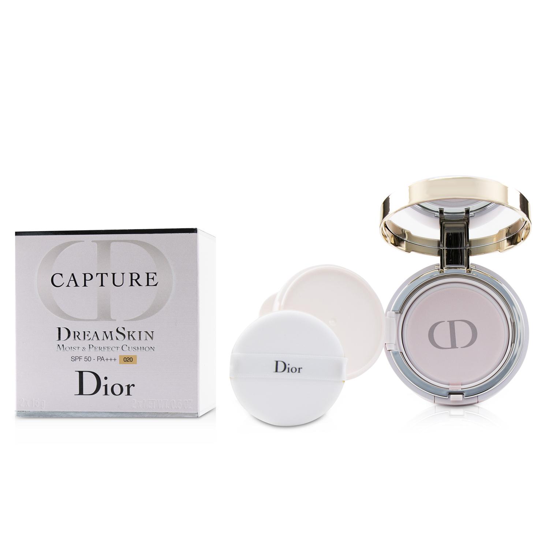 Christian Dior 迪奥 梦幻美肌柔润修颜气垫霜SPF50 连替换粉芯 #020 2*15g