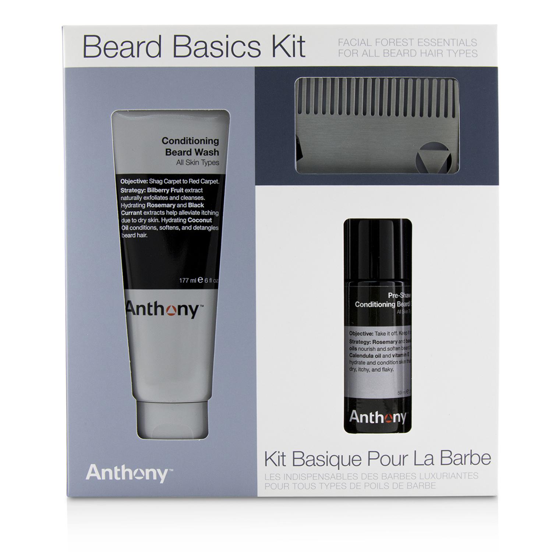 Anthony 安东尼 剃须基础套装(滋养胡须清洁乳177ml+须前油59ml+胡须梳)