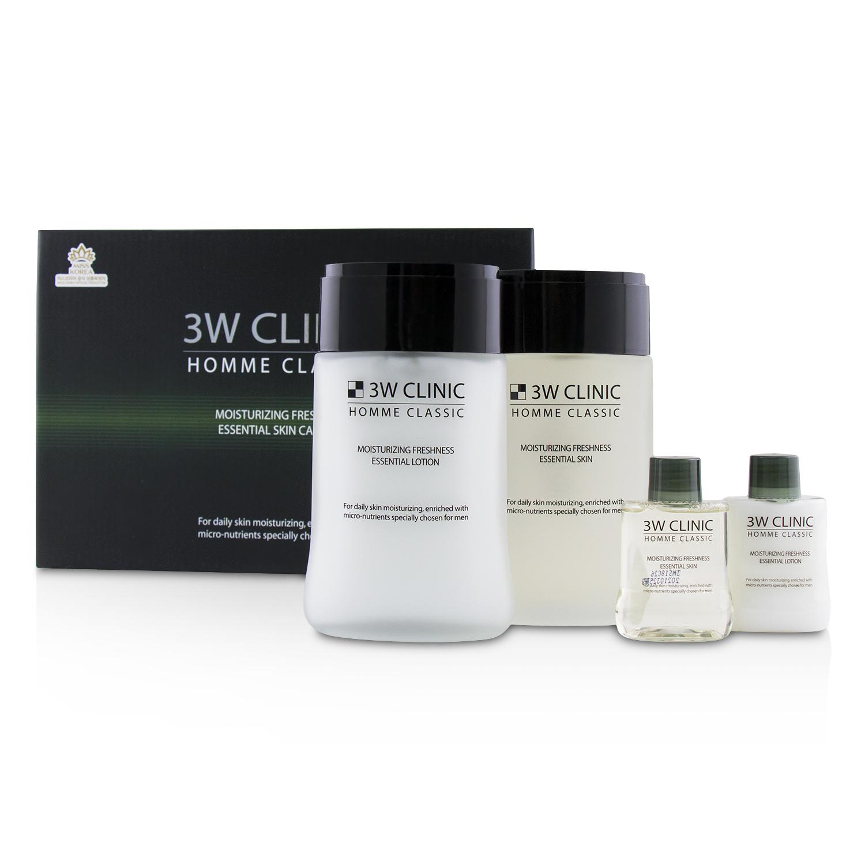 3W Clinic 3W诊所 男士经典保湿套装(爽肤水150ml+爽肤水30ml+乳液150ml+乳液30ml)