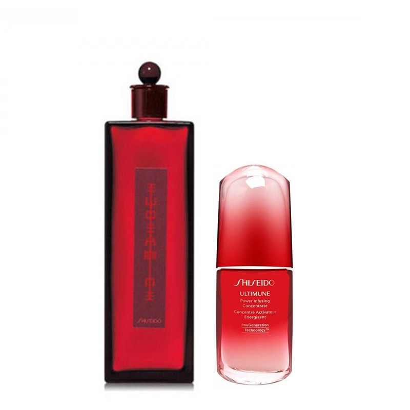 Shiseido 资生堂 护肤套装(红色蜜露精华水 200ml+红妍肌活精华露(红腰子)50ml)