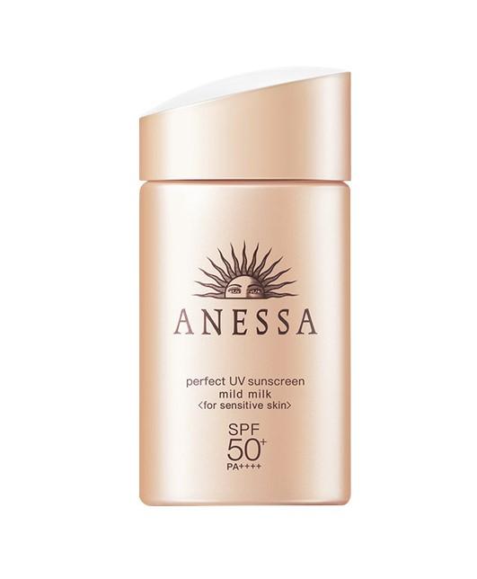 Shiseido/资生堂 ANESSA安耐晒 新款粉金瓶安热沙敏感肌宝宝防晒乳60ml